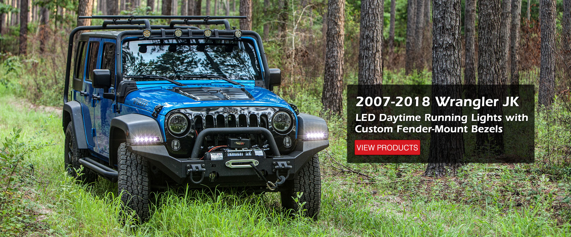 2007-2018 Jeep Wrangle JK/JKU Fender LED DRL System
