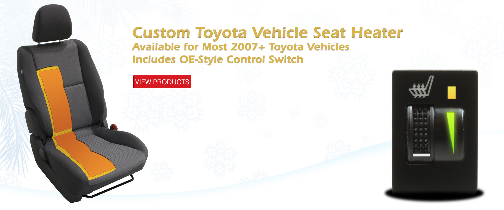 Custom Seat Heater for Toyota Vehicles - 250-1870-TOY