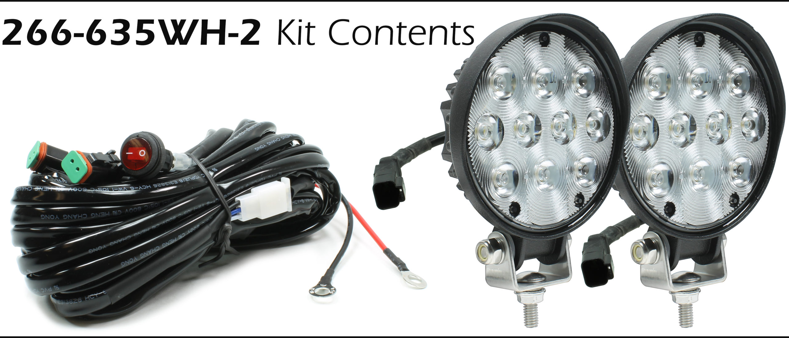 Auer Automotive 266-635WH-2 Dual 4.5-Inch Round LED Work Lamp