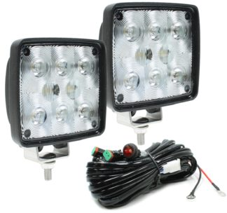 Auer Automotive 266-645WH-2 Dual 4.5-Inch Square LED Work Lamp