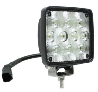 Auer Automotive 266-655WC Dual 4.5-Inch Square LED Work Lamp with DEUTSCH Connector