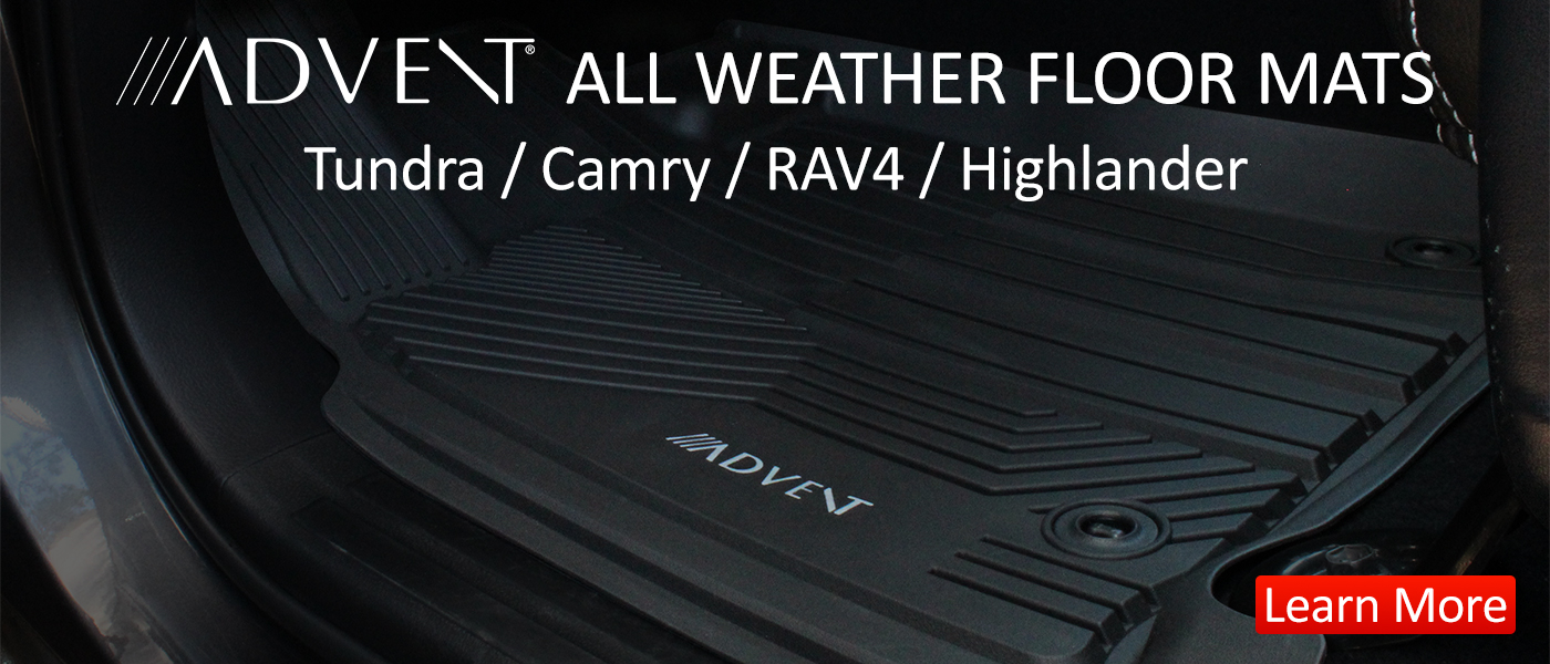 Image of all-weather Toyota floor mats